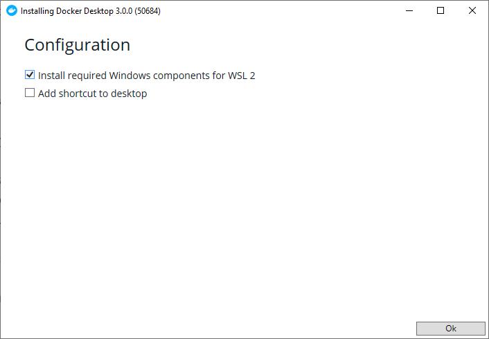 Docker install, step 1