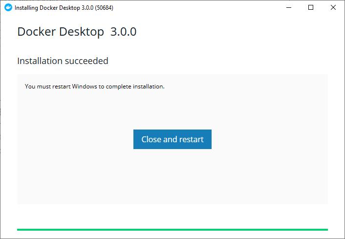 Docker install, step 3
