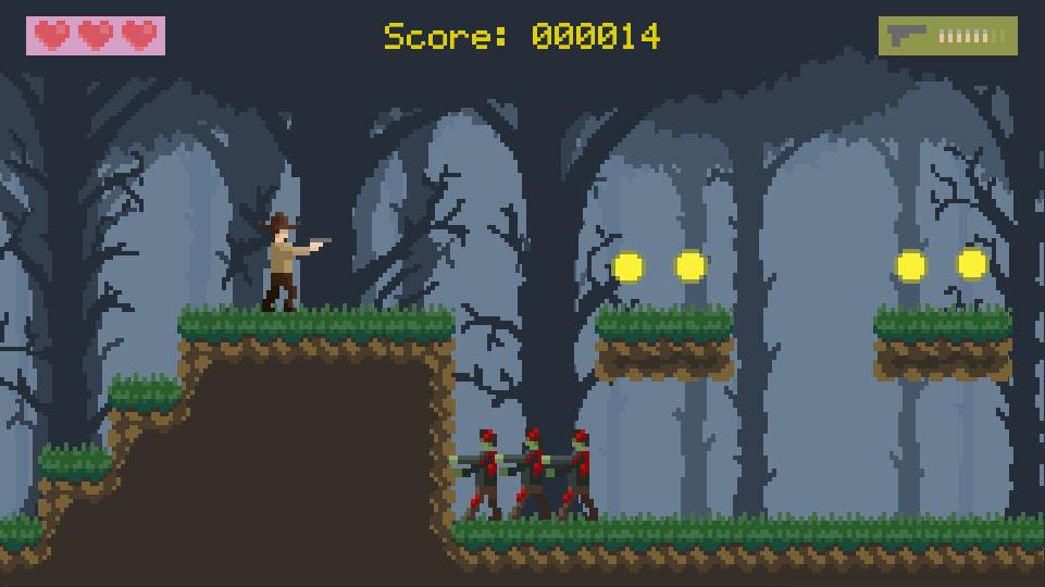Screenshot of Zombies 2D gameplay